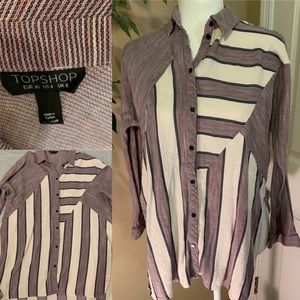 Topshop flannel long sleeve shirt size US size 4